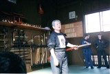 Hatsumi at Honbu Dojo - taken by Jake Sharpstone 1997