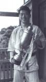 Soke Hatsumi with Judo trophy